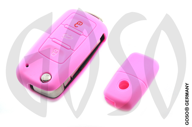 Cover for  VW Audi Seat key cover replacement (pink) 8179