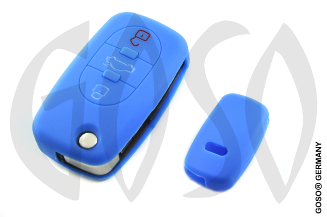 Cover for  VW Audi Seat key cover replacement (blue) 8216