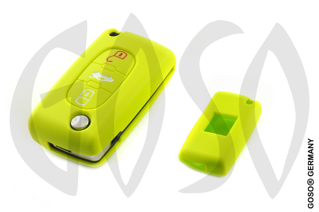 Citroen Peugeot key cover replacement (green) 8261