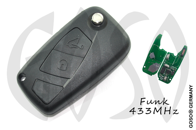 Fiat Remote Key 433Mhz ASK ID46 PCF7946 SIP22 2 buttons 8568