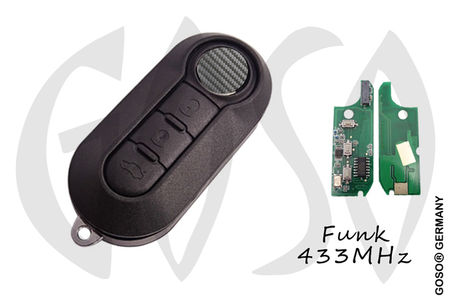 Fiat Remote Key 433Mhz ASK ID46 PCF7946 SIP22 3 buttons 8575