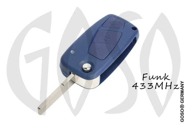 Fiat Remote Key 433Mhz ASK  ID46 PCF7946 SIP22 3 buttons Delphi BSI 8582-2