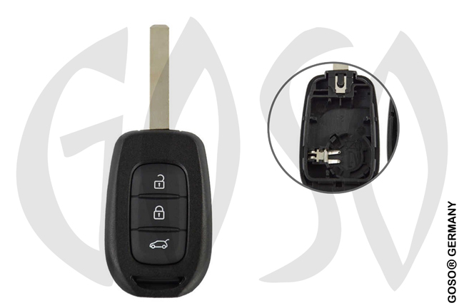 Key Shell for Renault  blank VA2 3B 8605-2