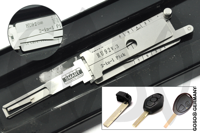 Werkzeug for Land Rover BMW   Lock Pick Decoder HU92v.3 2in1 9275