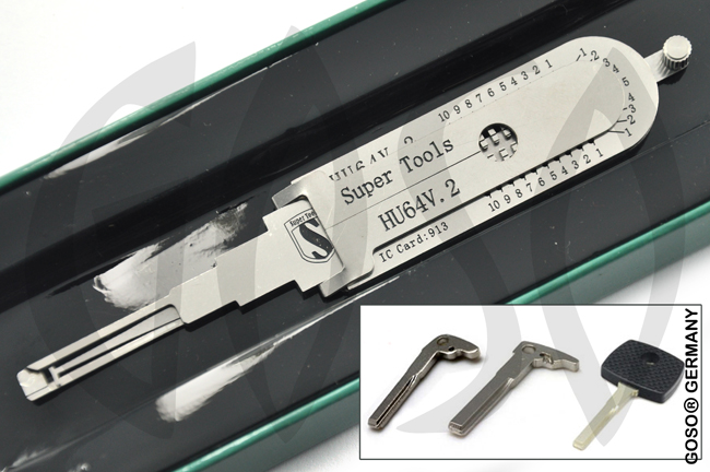 Super Lock Pick und Dekoder Benz HU64v.2 2in1 Tool 9312