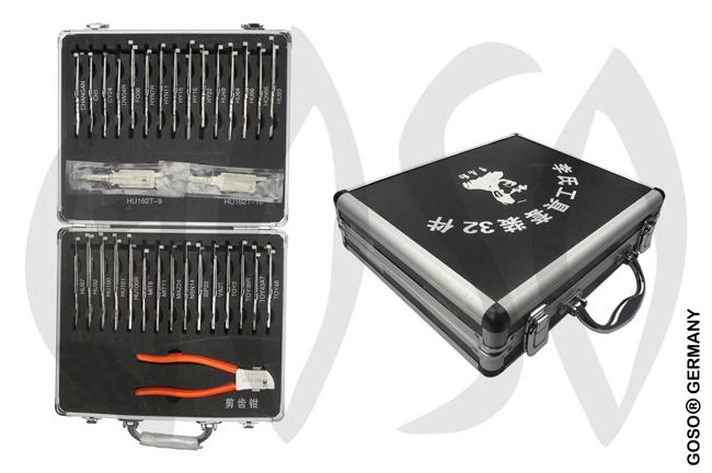 Lishi Lock Pick Set 2in1 32x Tools KOF1