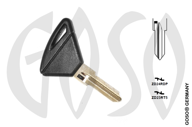 Aprilia motorcycle key shell  ZAD24R ZD23R  MT01