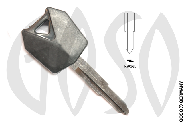 Key Shell for Kawasaki motorcycle  KW16L  MT22