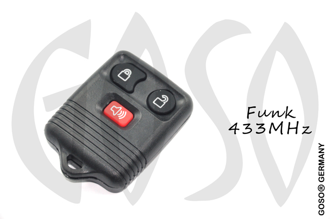 Ford 2+1 remote key 433MHz ASK 6116-2