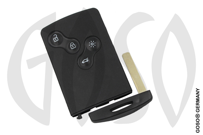 Renault Megane 4 button remote key shell 8011-3