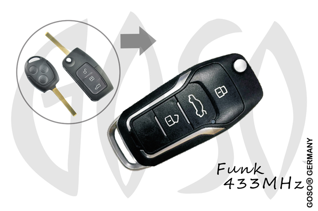 Remote Key for Mazda  Ford  433MHZ 3T HU101 KD12