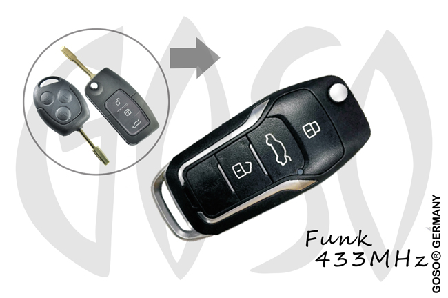 Ford Remote Key 433MHZ 3T FO21 KD13