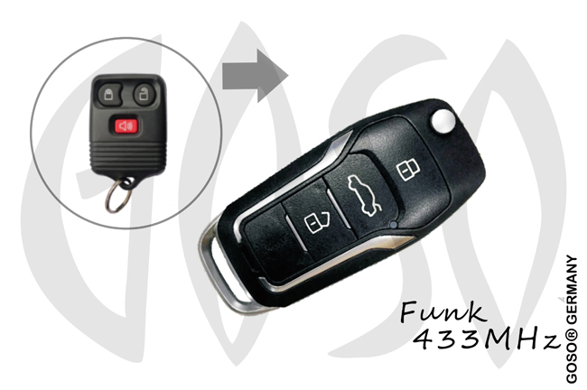 Remote Key for Ford 315Mhz 3T FO38 KD14