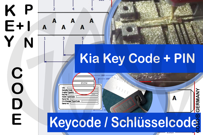 Service: Immobiliser PIN-Code and Key Code for Kia 5007
