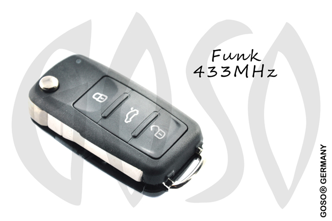 VAG VW remote key 3 button 5K0837202AJ Keyless Go ZR202