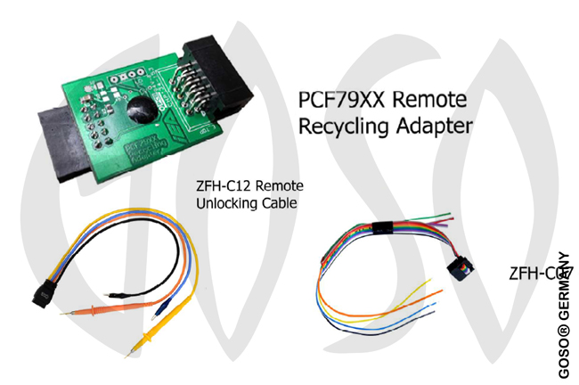 Zed-Full Remote unlocking Adapter and Cables with C07 & C12 Cables ZFH-PCF79X ZF69