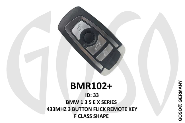 BMW Remote Key 433MHz for 1.Generation 3T  BMR102+ ZR10