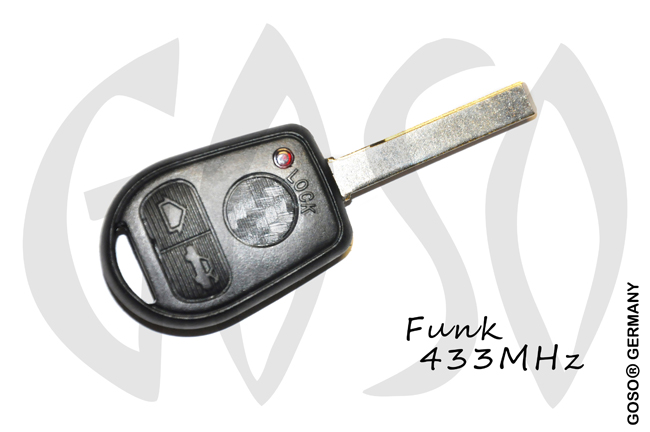 BMW remote 3 button 434MHz ASK PCF7935 HU92 ZR104