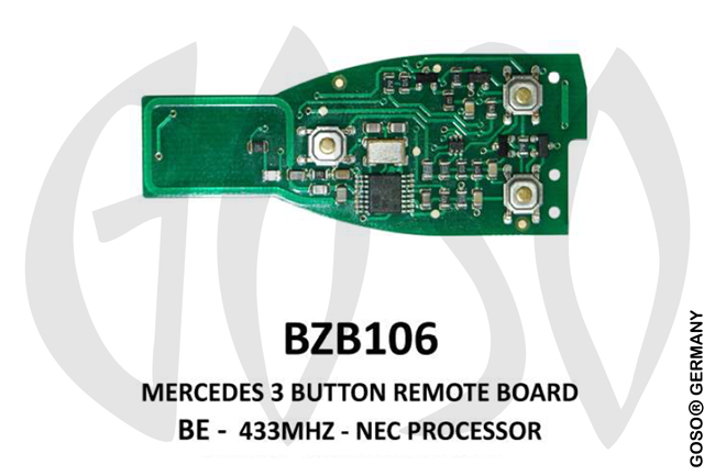 Mercedes Remote Key 433MHz NEC 3T  BZB106 ZR13