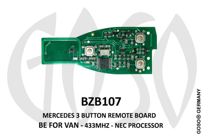 Mercedes Remote Key 433MHz NEC 3T  BZB107 ZR14