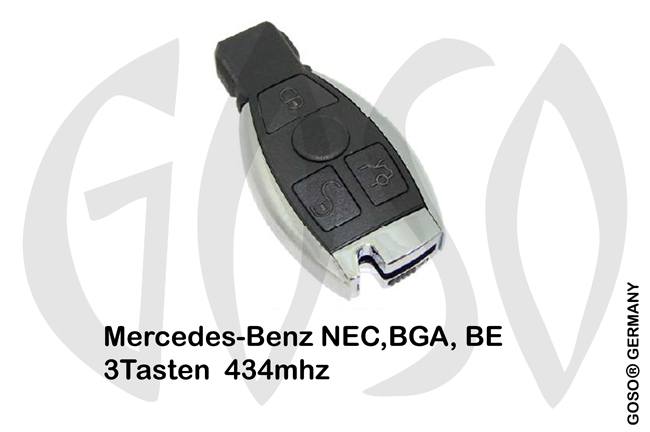 Mercedes Remote Key 433MHz NEC BGA BE 3T  ZR149