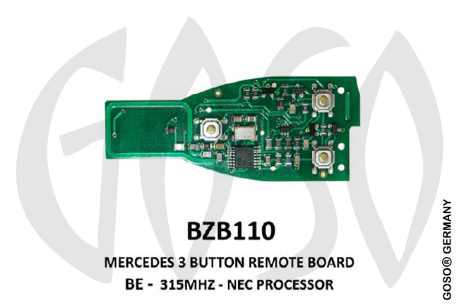 Mercedes Remote Key 315MHz NEC 3T  BZB110 ZR17