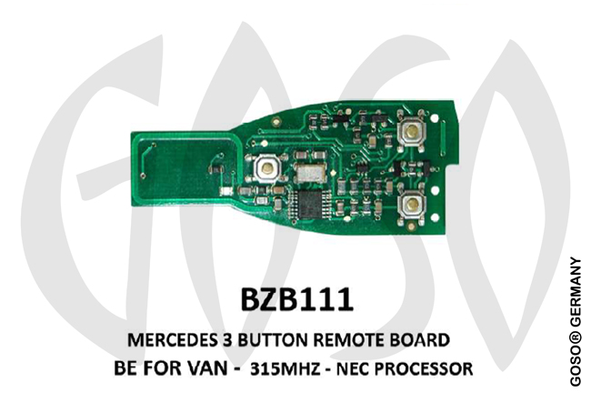 Mercedes Remote Key 315MHz NEC 3T  BZB111 ZR18