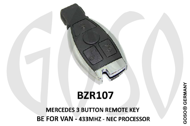 Mercedes Remote Key 433MHz NEC 3T  BZR107 ZR22