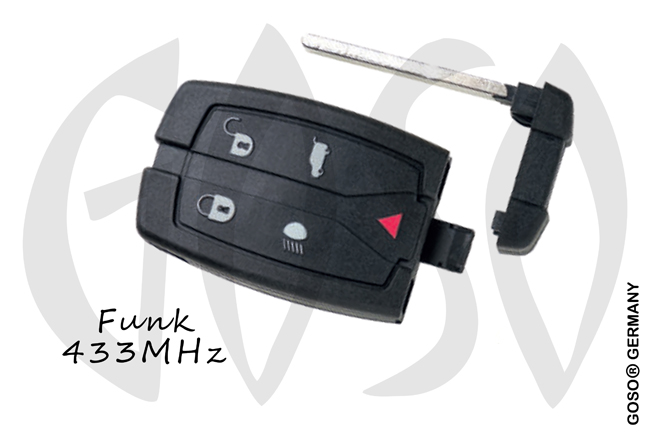 Silca - HU188S16 LandRover Remote Key 434MHz ASK ID46 5T  ZR57 PCF7945A/ PCF7953A HU101 ZR226