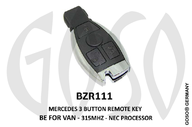Mercedes Remote Key 315MHz NEC 3T  BZR111 ZR26
