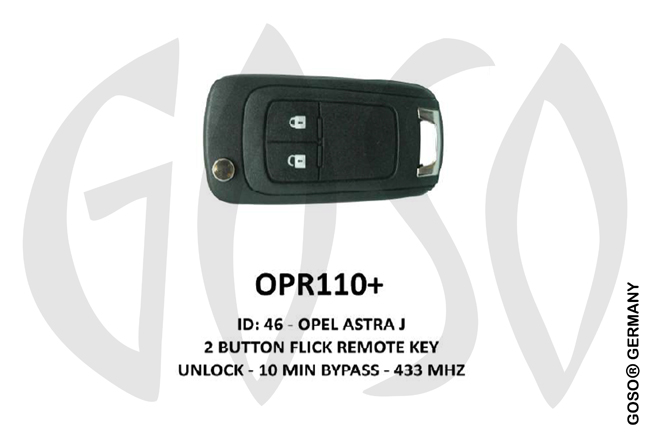 Opel Remote Key 433MHz ID46 2T  PCF7937/GM OPR110+ ZR63