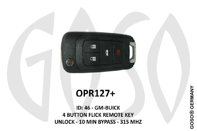 Opel Remote Key 315MHz ID46 GM 4T  OPR127+ ZR67