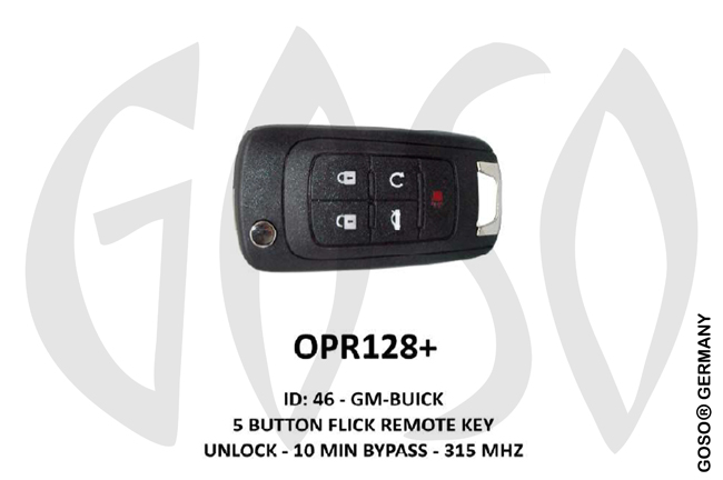 Opel Remote Key 315MHz ID46 GM 5T  OPR128+ ZR68