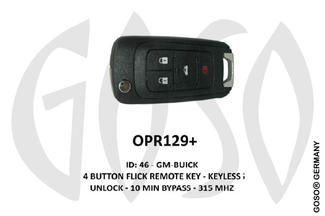 Opel Remote Key 315MHz ID46 GM 4T  OPR129+ ZR69