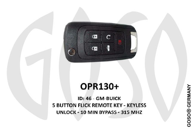 Opel Remote Key 315MHz ID46 GM 5T  OPR130+ ZR70