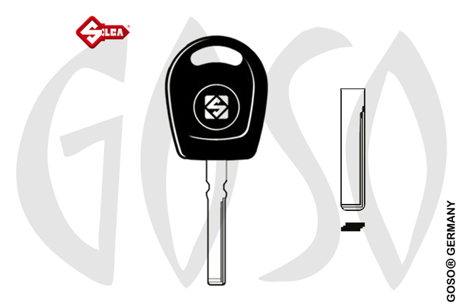 Key Shell for Audi Porsche Silca  S-HU116TE