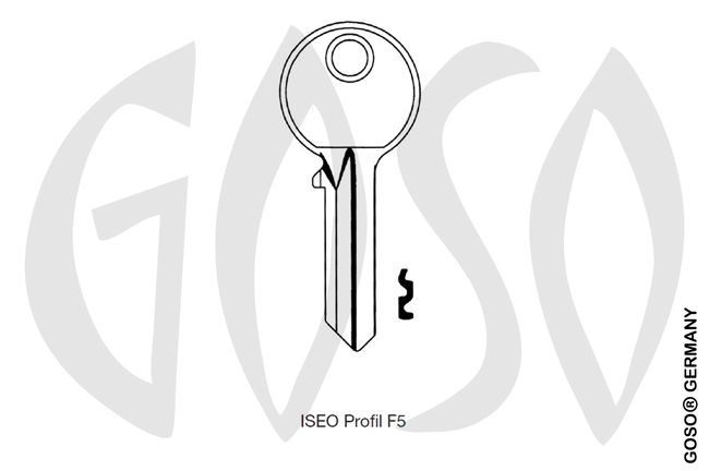 ISEOF5 Gängige cylinder key ISEO F5 KL-ISE5D S-IE6 BO-1486 JMA-IS-8D
