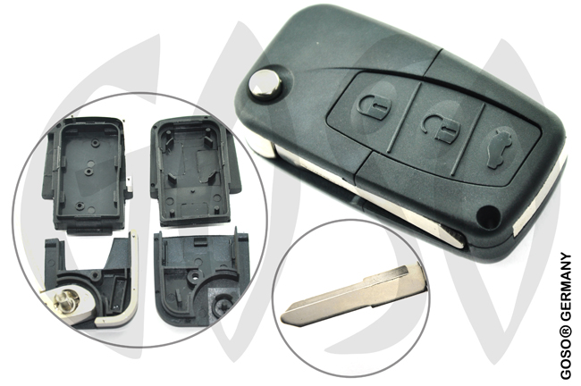 Key Shell for Mazda Flipkey 3T 0046