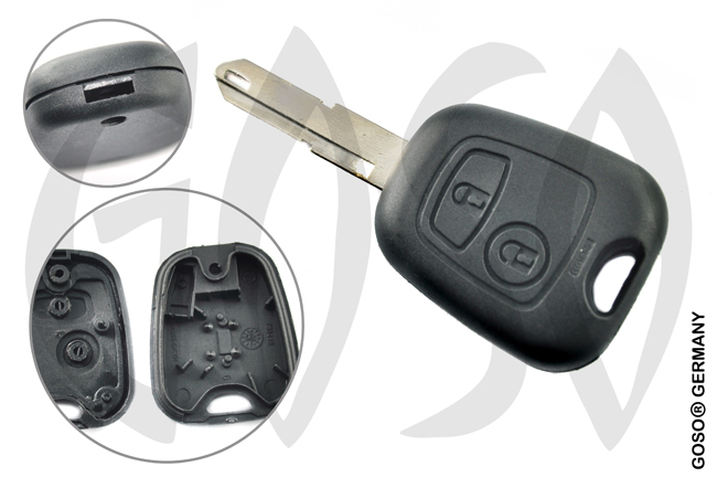 Key Shell for Citroen Xsara Picasso key housing blank NE73 2 button NE73RS2 0893