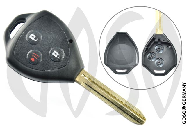 Key Shell for Toyota key blank radio buttons housing 3 2699