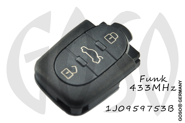 Remote Key for VAG VW 433MHZ ASK 1J0959753B 3B 4471