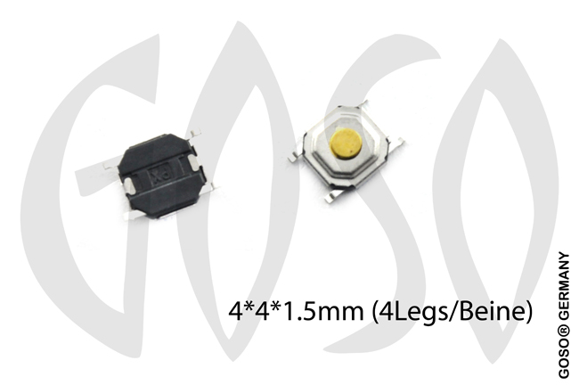 Micro key button 4*4*1.5mm 4 legs 9735-04