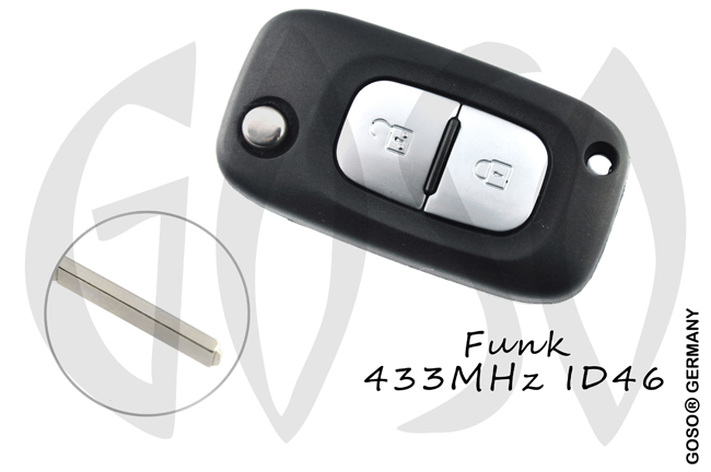 Remote Key for Mercedes Benz Citan 433Mhz ID46 PCF7961  2B 8544-2