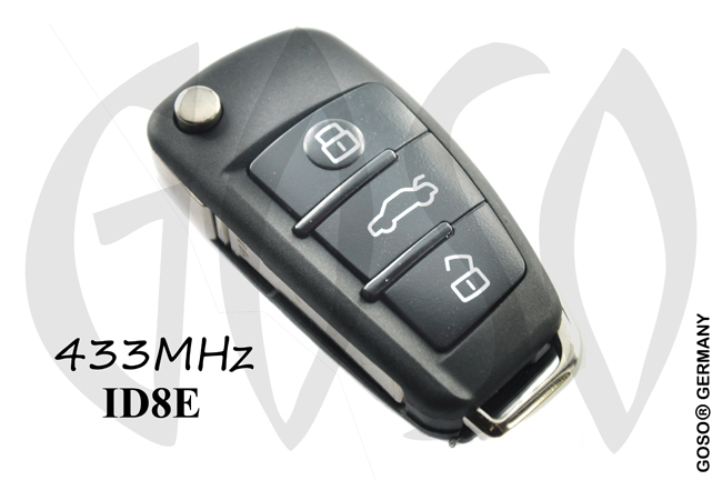 Remote Key for Audi 868Mhz ID8E HU66 3B 4F0837220R NE77