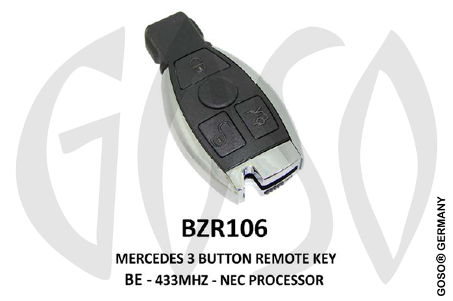 Remote Key for Mercedes IEA-Zedfull  433MHz NEC 3T  BZR106 ZR21